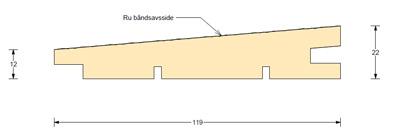 Klinkbeklædning lærk 25×125